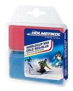 Holmenkol Набор парафинов WC Mix Cold red+blue 2x35г